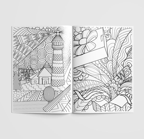 Colouring Book coloring book - friends with benefits - your friend with benefits - half page lighthouse image