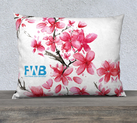 Red Cherry Blossom Pillow Case - https://www.yourfriendwithbenefits.ca/