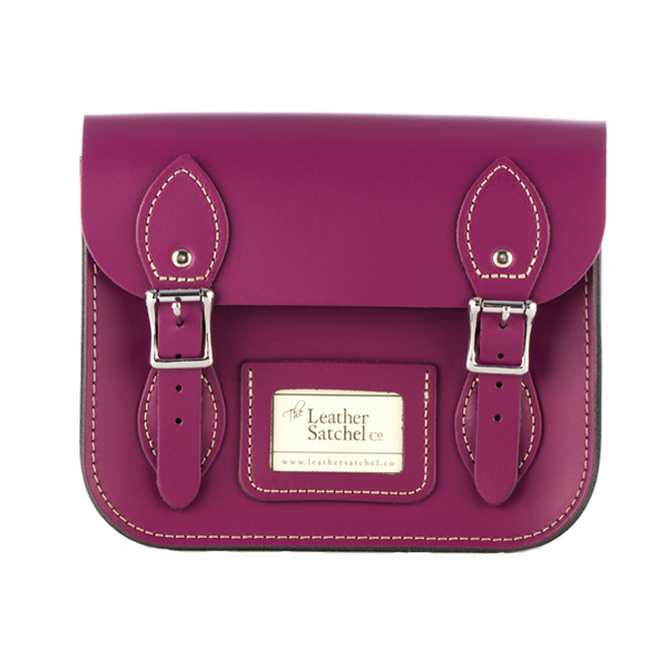 Mini Satchel de Boysenberry - Bolso de cuero morado