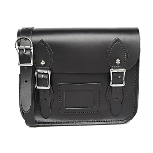 Mini Satchel de Charcoal Black - Bolso de cuero negro