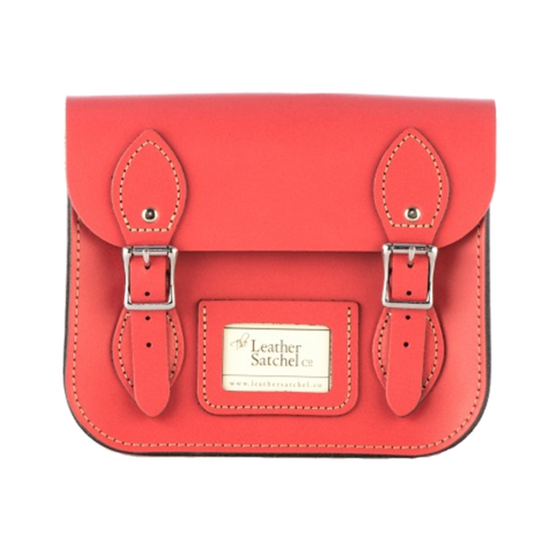 Mini Satchel de Corral Reef - Bolso de cuero de color salmon