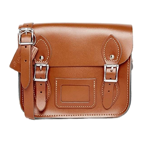 Mini Satchel de London Tan - Bolso de cuero marrón