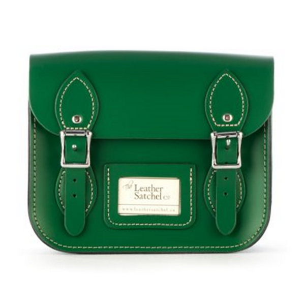 Mini Satchel de Sherwood Green - Bolso de cuero verde