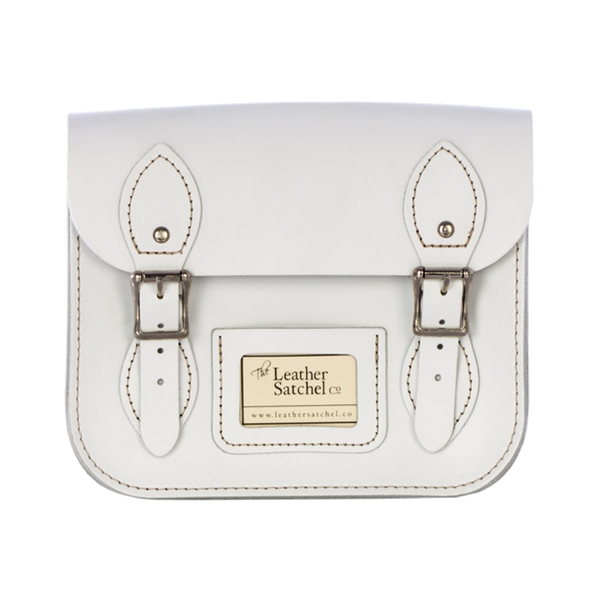 Mini Satchel de Snow White - Bolso de cuero blanco
