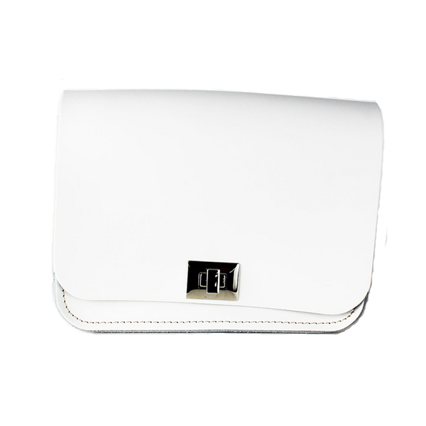 Pixie Snow White - Bolso de Cuero Blanco
