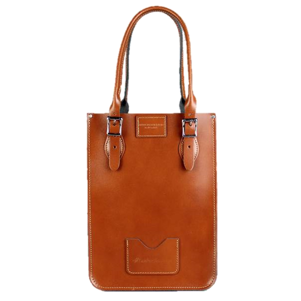 Mini Tote London Tan - Cartera de Cuero Maron