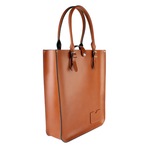 Large Tote London Tan - Bolso De Cuero Cafe