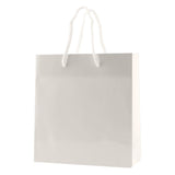 White Gloss Laminated Eurotote Small A - 6 x 3.5 x 6.5 x 3.5