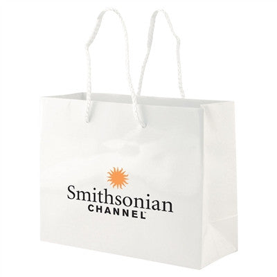 White Gloss Laminated Eurotote Medium - 9 x 3.5 x 7 x 3.5