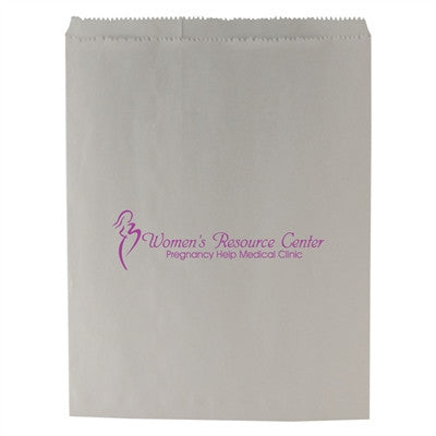 White Paper Merchandise Bag - 8.5 x 11