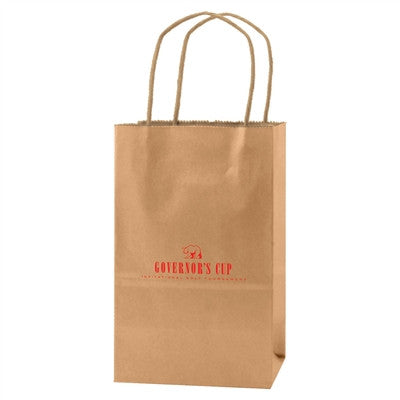 Precious Metals Kraft Shopping Bag Mini - 5.25 x 3.25 x 8.5 x 3.25