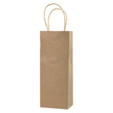 100% Recycled Content Natural Kraft Shopping Bags Vino - 5.5 x 3.25 x 12.5 x 3.25