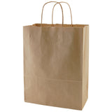 100% Recycled Content Natural Kraft Shopping Bags  Antelope - 10 x 5 x 13.5 x 5