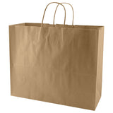 100% Recycled Content Natural Kraft Shopping Bags Jaguar - 16 x 6 x 13 x 6