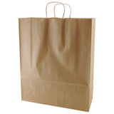 100% Recycled Content Natural Kraft Shopping Bags Zebra - 16 x 6 x 19.25 x 6