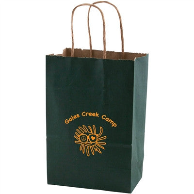 Solid Tinted Kraft Shopping Bags