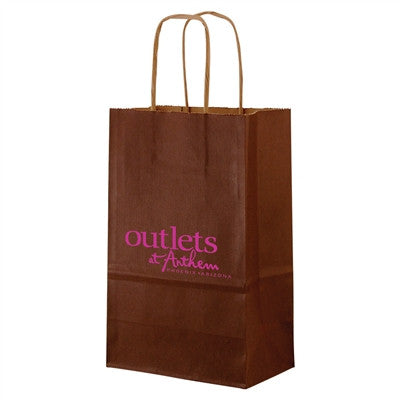 Tinted Natural Kraft Shopping Bag Mini - 5.25 x 3.25 x 8.5 x 3.25