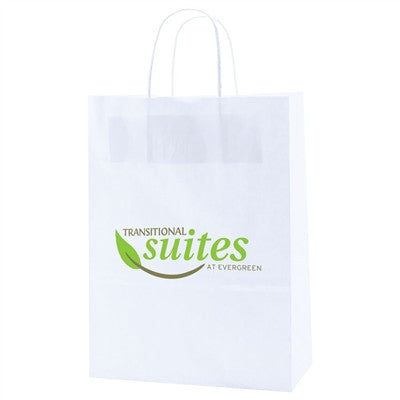 White Kraft Shopping Bag Antelope - 10 x 5 x 13.5 x 5