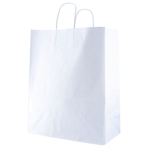 White Kraft Shopping Bag Gazelle - 13 x 6 x 15.75 x 6