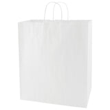 White Kraft Shopping Bag Zebra - 16 x 6 x 19.25 x 6