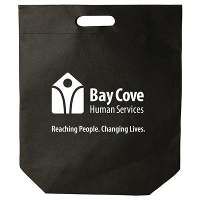 Non-Woven Die Cut Handle Bags  - 15 x 18 +4