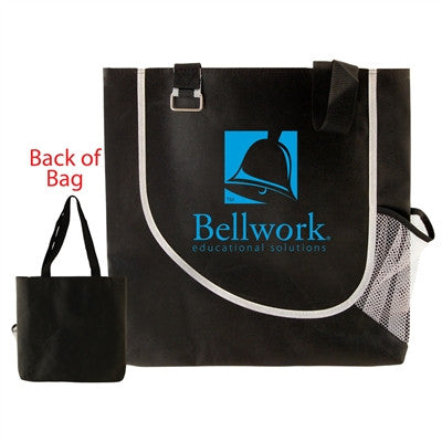"Non-Woven Executive Tote - 17"" x 16"",  28"" Shoulder Length Handle"