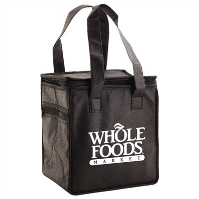 "Non-Woven Thermo Lunch Tote  - 8 x 6 x 8.5 x 6, 16"" Handle"