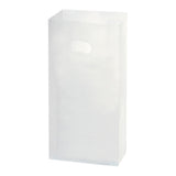 Clear Frosted Die Cut Tote Small - 7 x 3.5 x 10 x 3.5