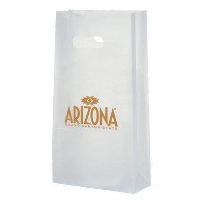 Clear Frosted Die Cut Totes - 7.75 x 3.5 x 15 x 3.5