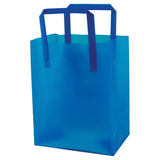 Color Frosted Tri-Fold Handle Shopping Bag Medium - 8 x 5 x 10 x 5