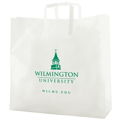 Clear Frosted Tri-Fold Handle Shopping Bag - 16 x 6 x 16 x 6