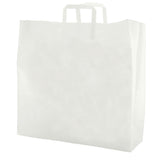 Clear Frosted Tri-Fold Handle Shopping Bag X-Large - 17 x 7 x 18 x 7