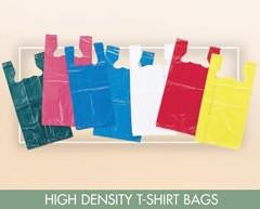 High Density White T-Shirt Bag Large - 12 x 7 x 23