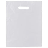 White Patch Handle Bag Medium Large - 12 x 15 +3