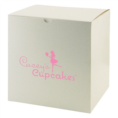 White Gloss Tuckit Box - 8 x 8 x 8-1/2
