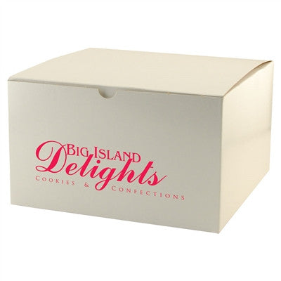 White Gloss Tuckit Box - 10 x 10 x 6