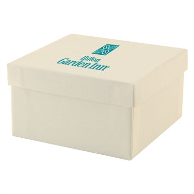 Kraft and White Jewelry Boxes - 3-1/2 x 3-1/2 x 2