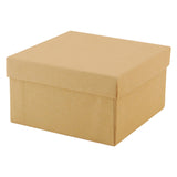 Natural Kraft and White Jewelry Boxes - 3.5 x 3.5 x 2