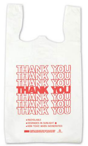 Economy Thank You T-Shirt Bag