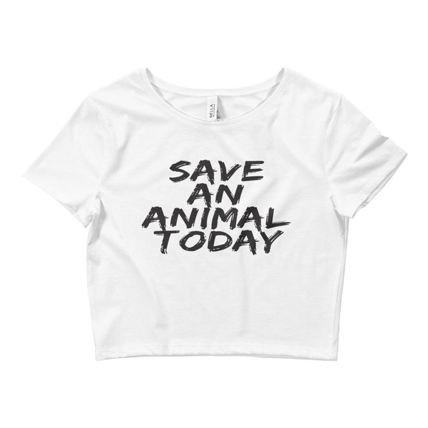 Women's - Save an Animal Today - Crop Tee - Supporting Animal Defenders International