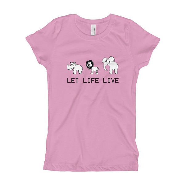 Girl's - Let Life Live - Tee