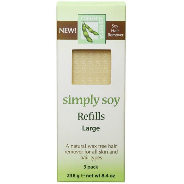 Clean + Easy Simply Soy Large Leg Refills, 3 Count