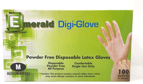Emerald Latex Gloves - Medium