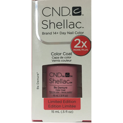 CND Shellac Half Ounce - 214 Be Demure
