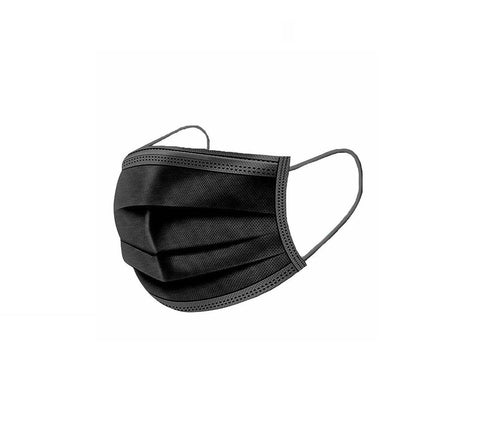 Black Disposable Protective Mask 10pc