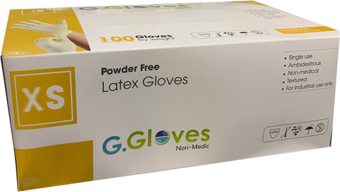 G.Gloves Latex Gloves - X Small