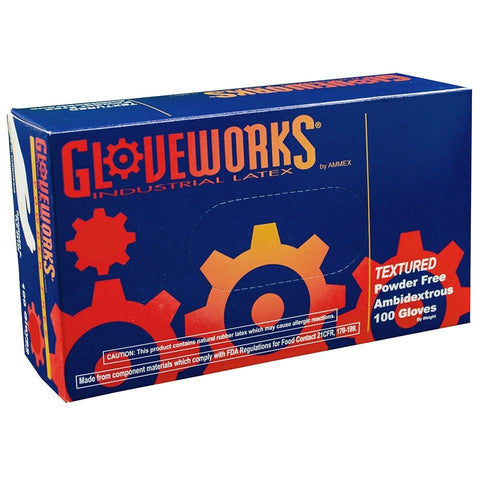 Gloveworks Latex Gloves - Medium