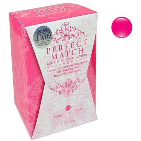 Lechat Perfect Match PMS 045 SHOCKING PINK Lacquer and Gel Kit