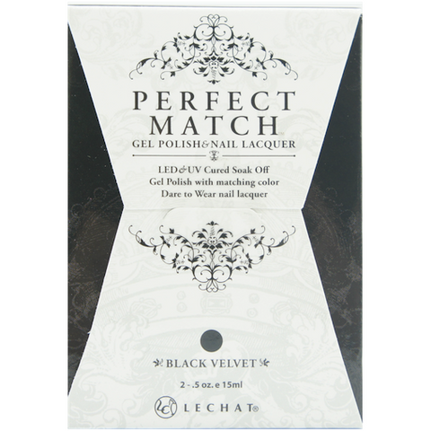 Lechat Perfect Match PMS 030 BLACK VELVET Lacquer and Gel Kit