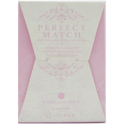 Lechat Perfect Match PMS 049 PINK LACE VEIL Lacquer and Gel Kit